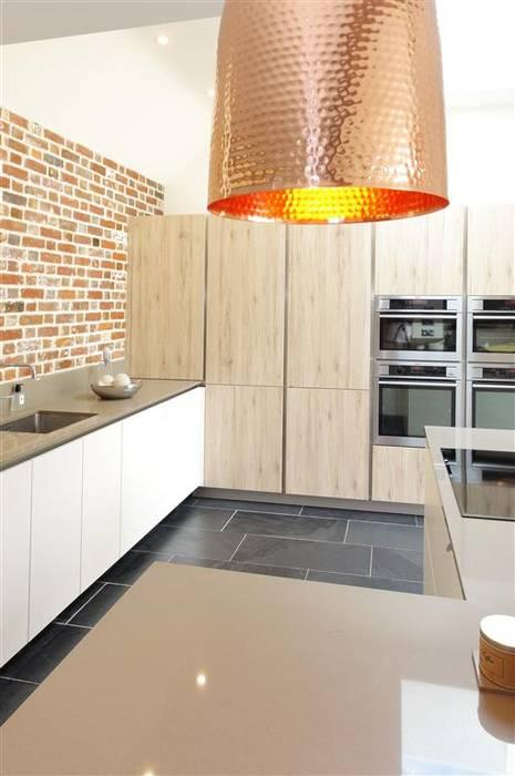 Copper pendant lighting in Barn Kitchen Modern Kitchen by PTC Kitchens Modern