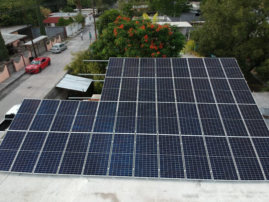 KB Solar Negozi & Locali commerciali moderni Vetro Blu