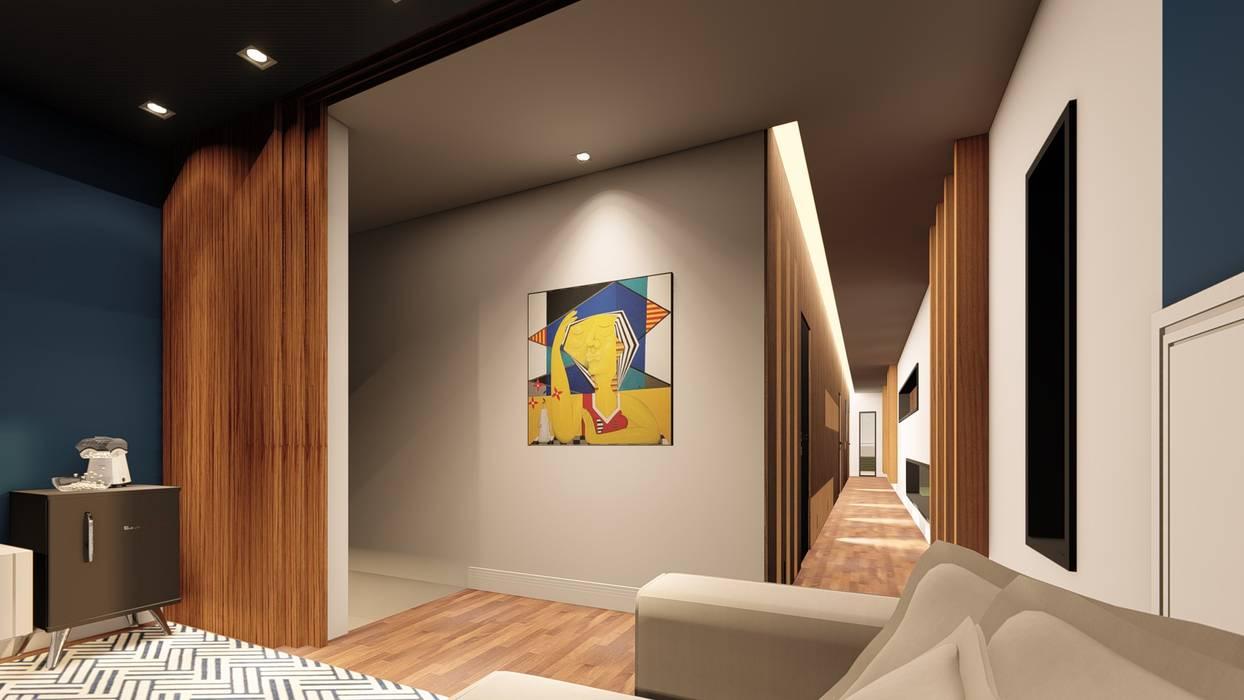 Casa Umami por Studio Ideação Moderno Madeira Efeito de madeira