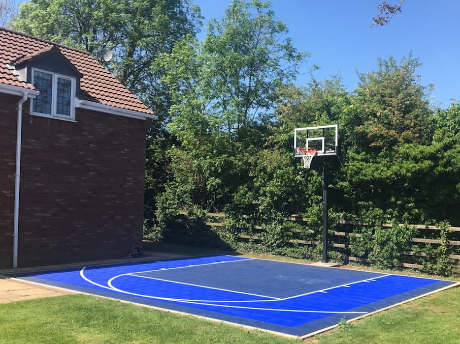 Home half court basketball court by Game Courts UK Modern Tiles