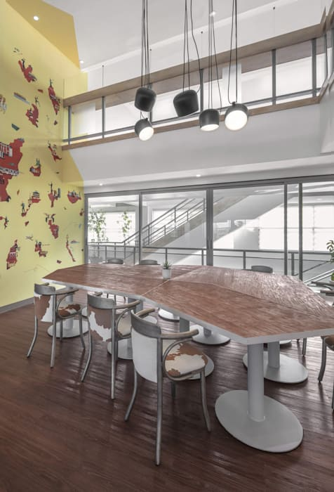 Play in the Calm Minimalist dining room by 8X8 Design Studio Co. Minimalist Plastic