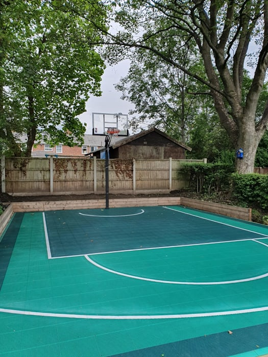 Home basketball half court UK Sport Court by Game Courts UK Modern Tiles