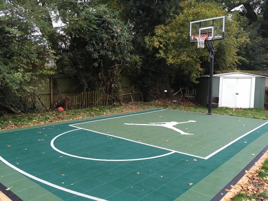 Jordan basketball court, half court basketball court UK by Game Courts UK Modern