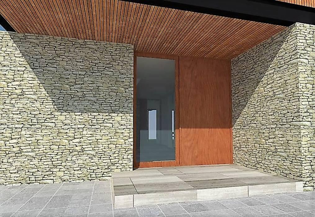 DETALLE ACCESO CASA Martin Rojas Arquitectos Asoc. Casas unifamiliares