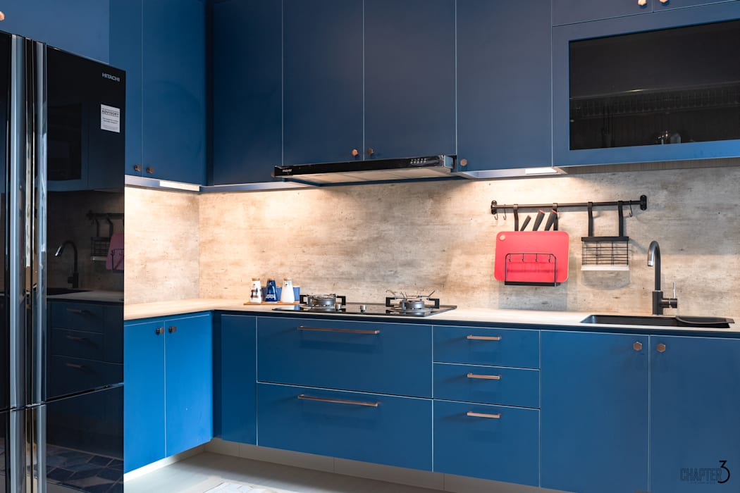 Kitchen cabinets Eclectic style kitchen by Chapter 3 Interior Design Eclectic