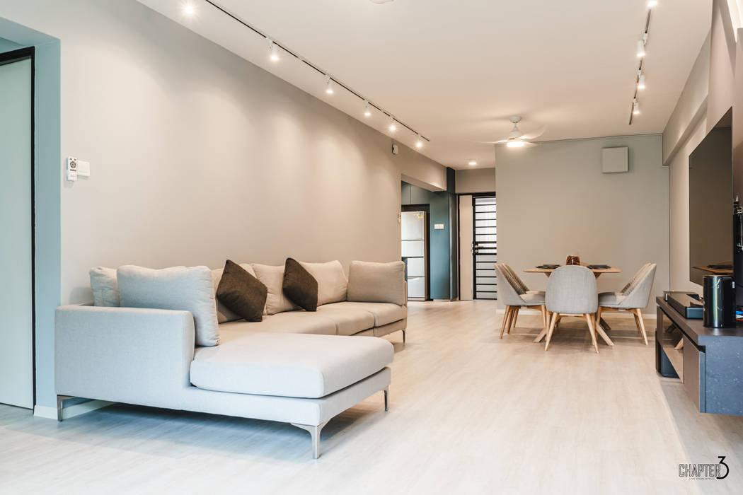 Ruang Keluarga Gaya Skandinavia Oleh Chapter 3 Interior Design Skandinavia