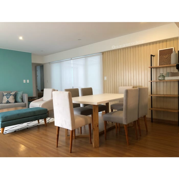 Proyecto Sala Comedor Entregado NF Diseño de Interiores Salas modernas