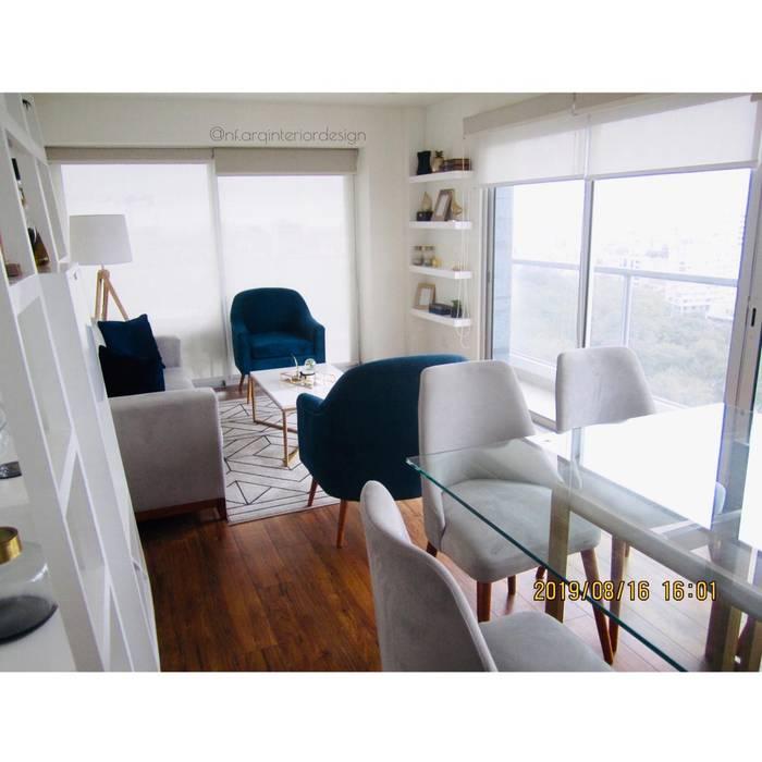 Sala Comedor Moderno Salas modernas de NF Diseño de Interiores Moderno