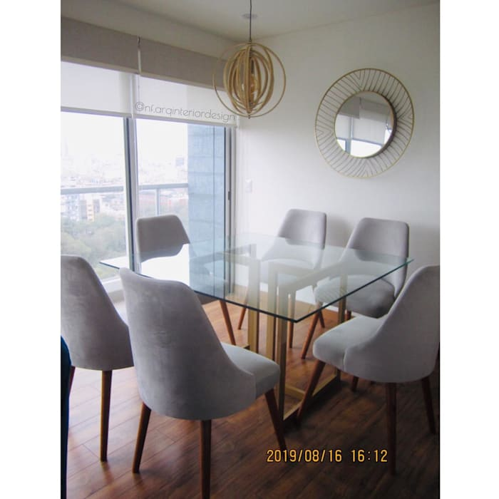 Juego de Comedor Comedores de estilo moderno de NF Diseño de Interiores Moderno
