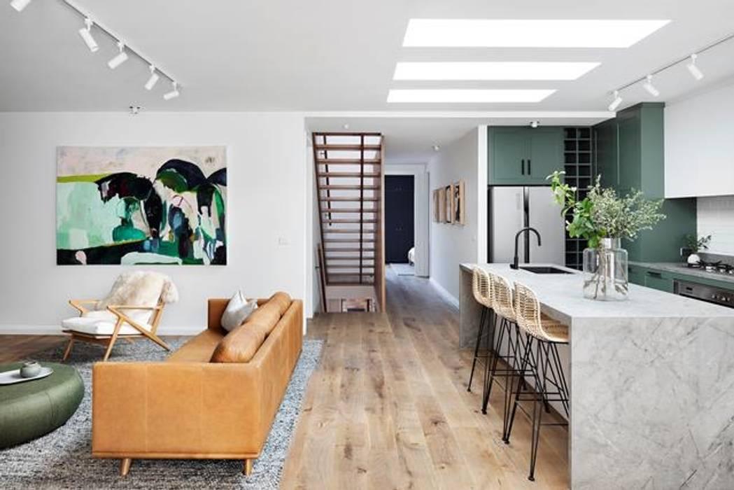 Home Renovation Mediterranean corridor, hallway & stairs by Famewalk Interiors Mediterranean