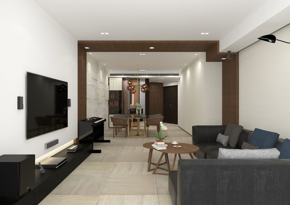 Dining/Living Room KMok Consulting Limited Modern living room