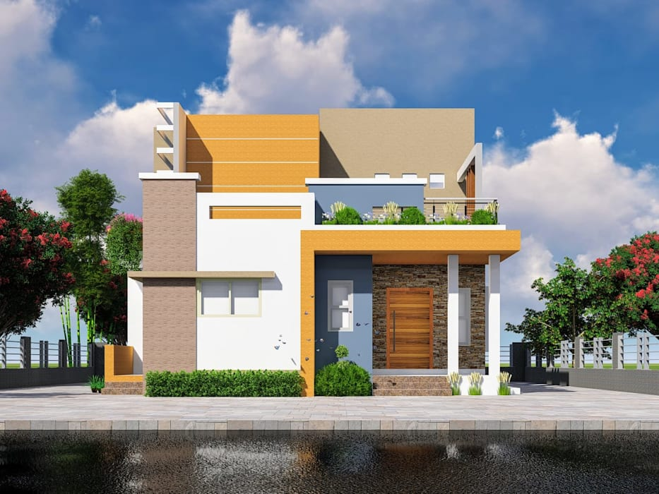 2BHK single family bungalow at Kedgaon by Nakshatra Construction Modern