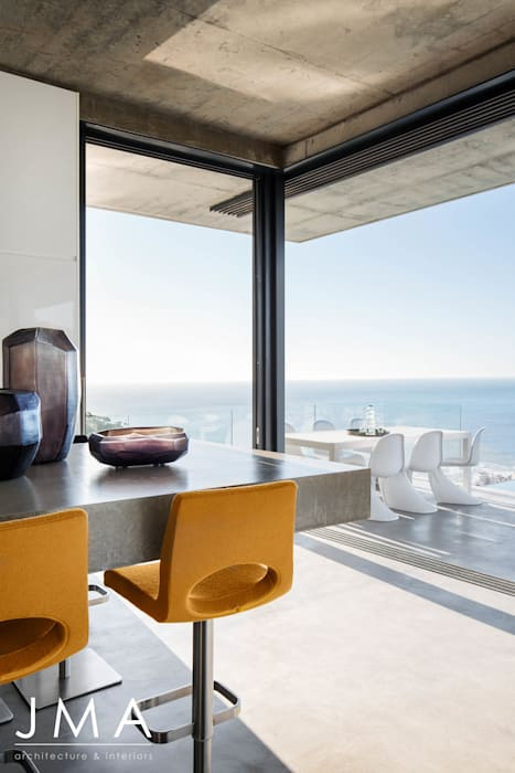 Pool Penthouse - Kitchen with a view of Atlantic Seaboard by Jenny Mills Architects Modern