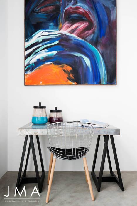 Pool Penthouse - Bedroom Study Modern style bedroom by Jenny Mills Architects Modern