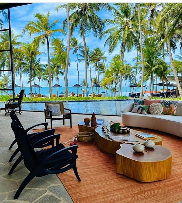 Camacã Design em Madeira Balconies, verandas & terraces Furniture