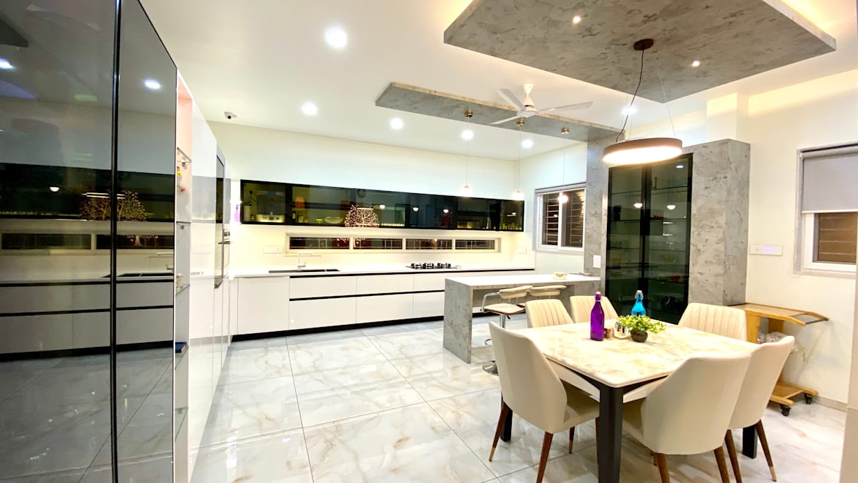 Bungalow for Dr. Shashidhar Kattimani at Ghatprabha, Karnataka A B Design Studio Eclectic style kitchen
