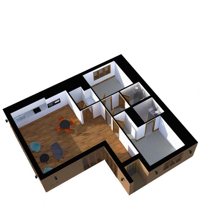 Stand Alone Annexe Ashford Kent STUDIO 9010 Modern Living Room
