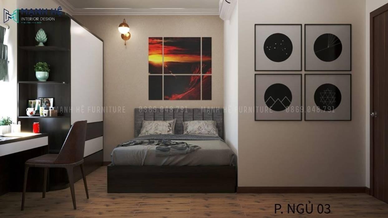Bộ tranh trừu tượng treo tường trang trí Phòng ngủ phong cách hiện đại bởi Công ty TNHH Nội Thất Mạnh Hệ Hiện đại