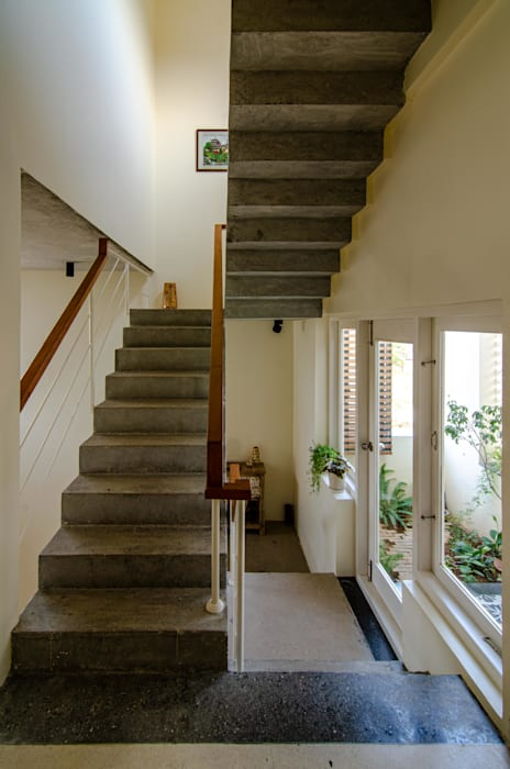 Staircase First Floor Ideation Design Stairs Concrete Grey