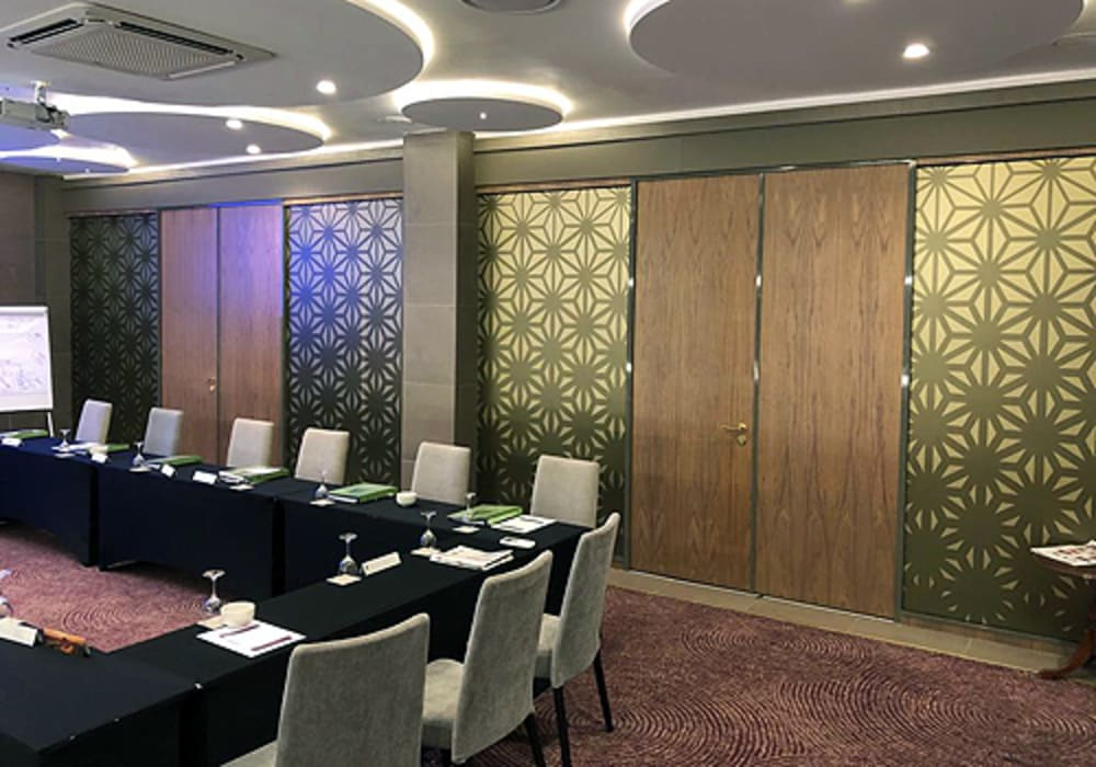 GF Serene acoustic de-mountable partition system with Varikust® acoustic doors by Aluglass Bautech (Pty) Limited Classic Glass