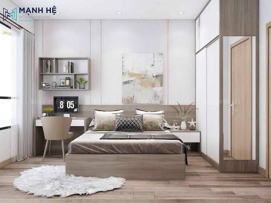 Столовая комната в стиле модерн от Công ty TNHH Nội Thất Mạnh Hệ Модерн Пробка