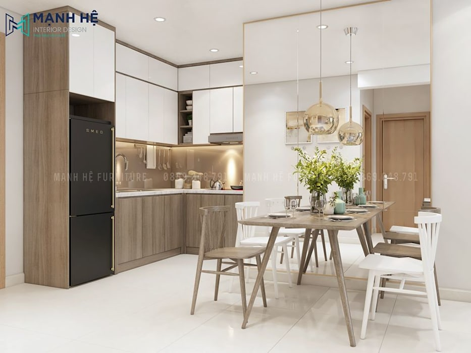 Phòng bếp Nhà bếp phong cách hiện đại bởi Công ty TNHH Nội Thất Mạnh Hệ Hiện đại Ly