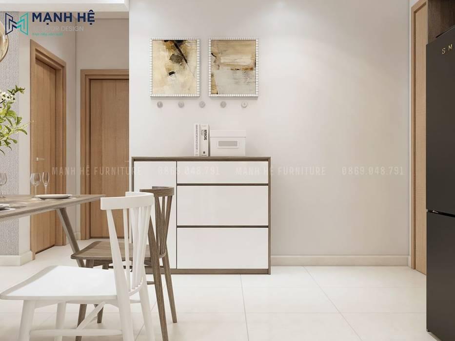Không gian giữa của căn hộ bởi Công ty TNHH Nội Thất Mạnh Hệ Hiện đại Bần