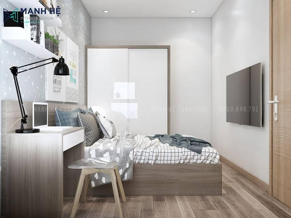 Phòng ngủ bởi Công ty TNHH Nội Thất Mạnh Hệ Hiện đại Bần