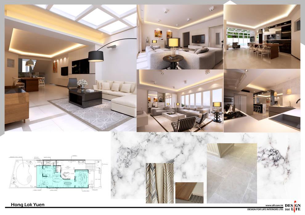 Hong Lok Yuen ( Hong Kong ) by design for life interiors limited Minimalist Glass