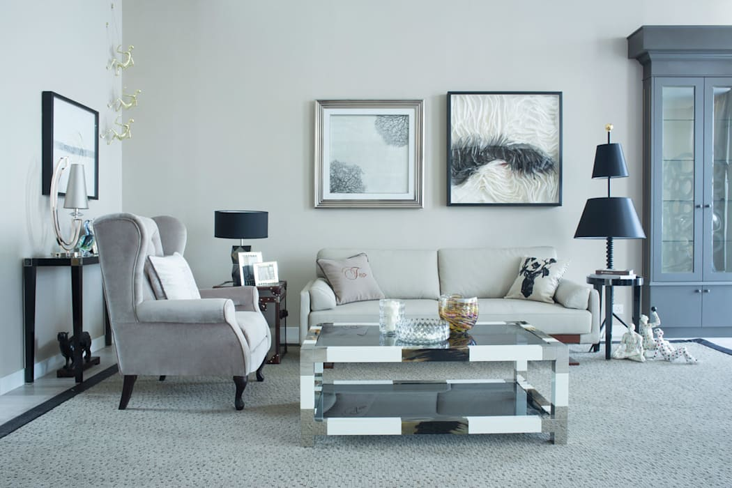 Marriage of contemporary & classic..... Modern living room by JC Vision Modern Wood Wood effect