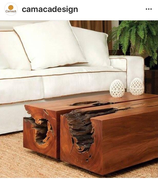Camacã Design em Madeira Living roomTV stands & cabinets Parket