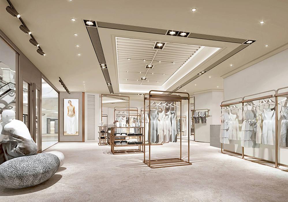 John Chan Design Ltd Офіси та магазини Бежевий