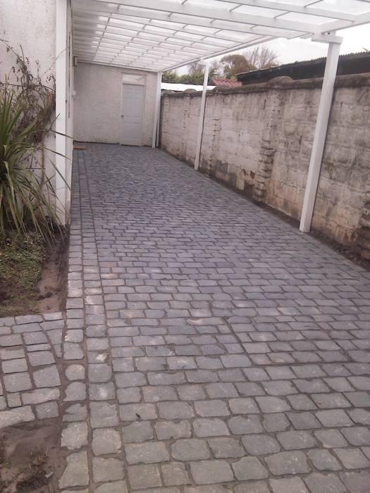 Adoquines de Piedra, estacionamientos de hogartotal Chile Rústico