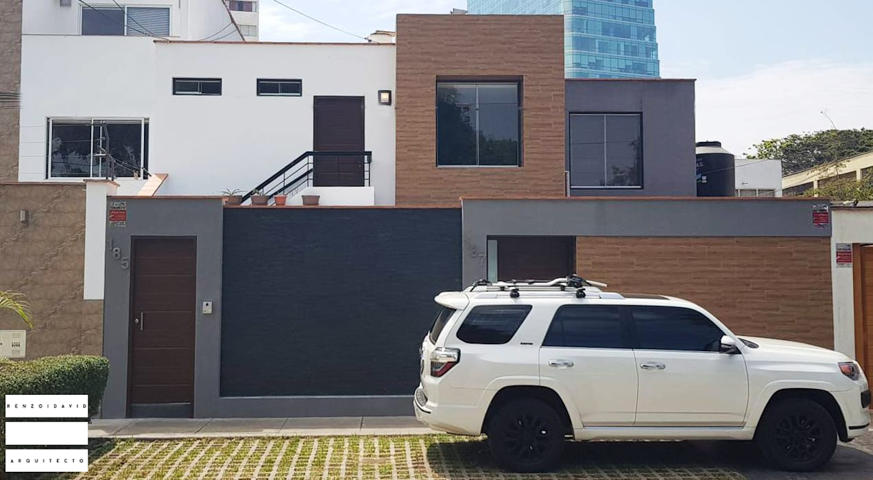 Fachada Principal Casas de estilo minimalista de rzoarquitecto Minimalista