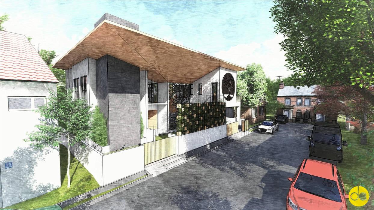 3D Render - Front View Modern houses by designasm Studio Modern