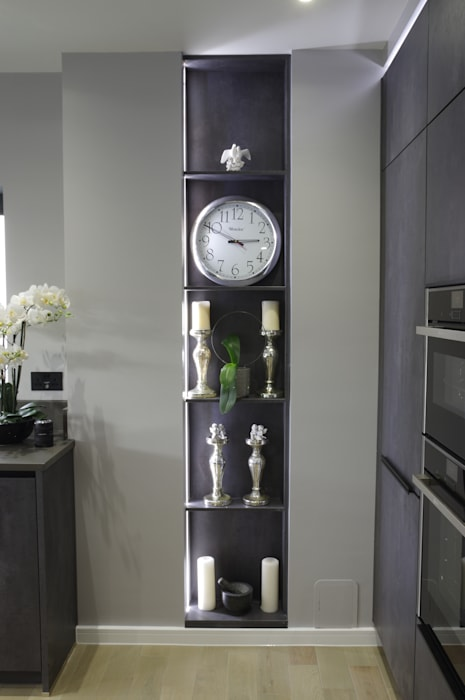 open decorative shelving Modern kitchen by PTC Kitchens Modern