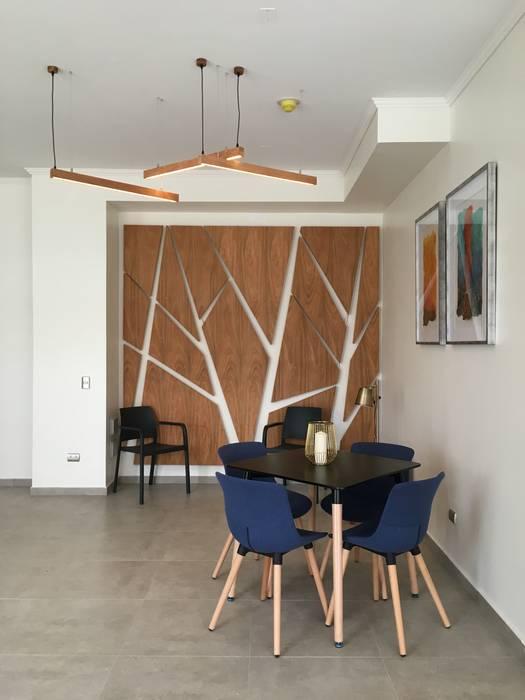 Sala Multiuso Livings de estilo moderno de Vetas · Diseño Mobiliario Moderno Madera Acabado en madera