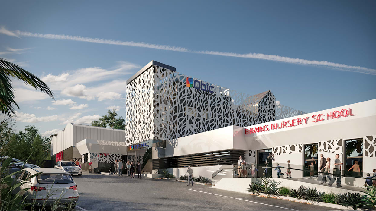 Braisn Nursery School Casas de estilo moderno de 3DmasD Moderno