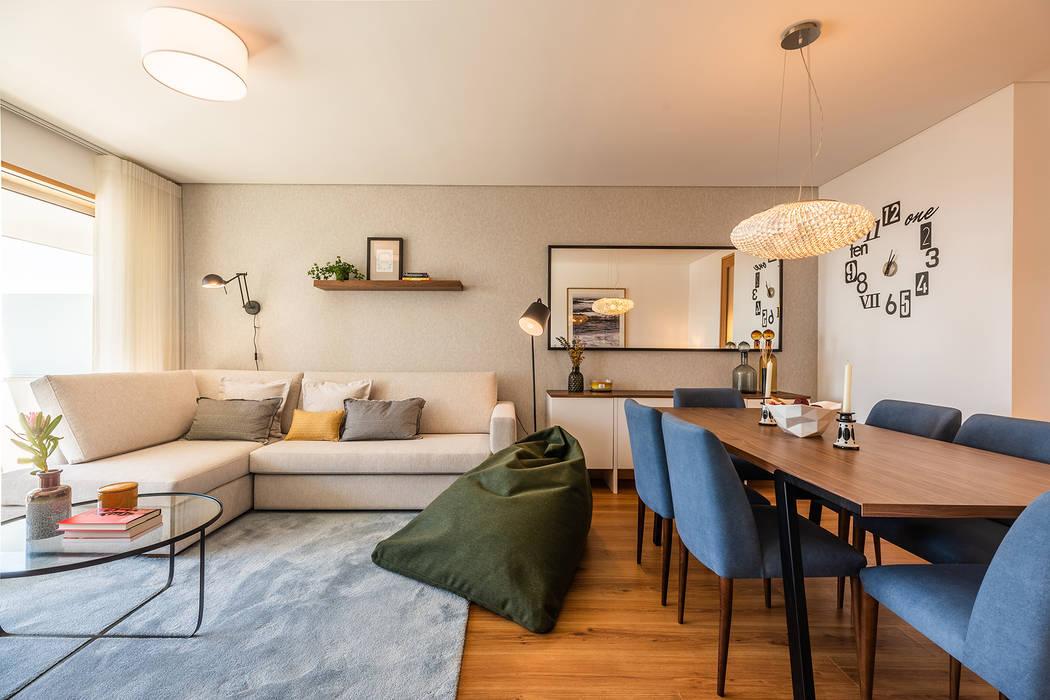 Sala - Apartamento em Matosinhos - SHI Studio Interior Design Salas de jantar minimalistas por ShiStudio Interior Design Minimalista