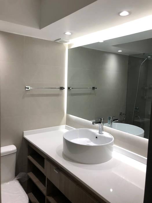 Baño Principal | Retro Iluminación de Estudio veta diseño Minimalista Cuarzo