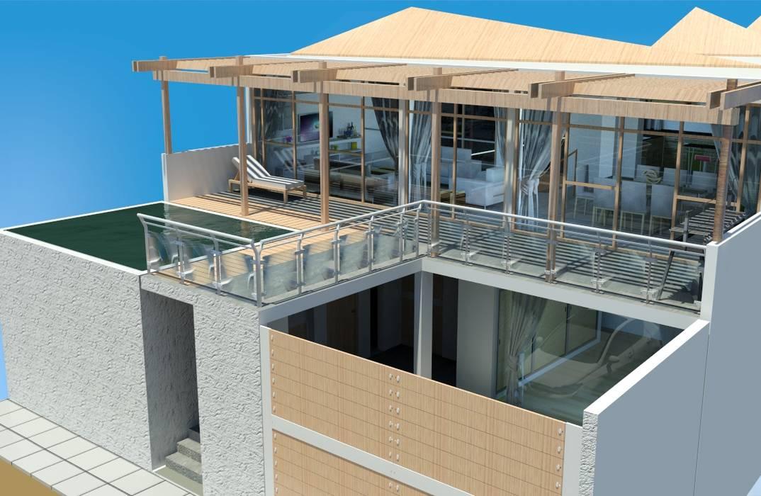 Casa de Playa San Marino de Trazo Libre Arquitectos & Ingenieros SAC Moderno Concreto