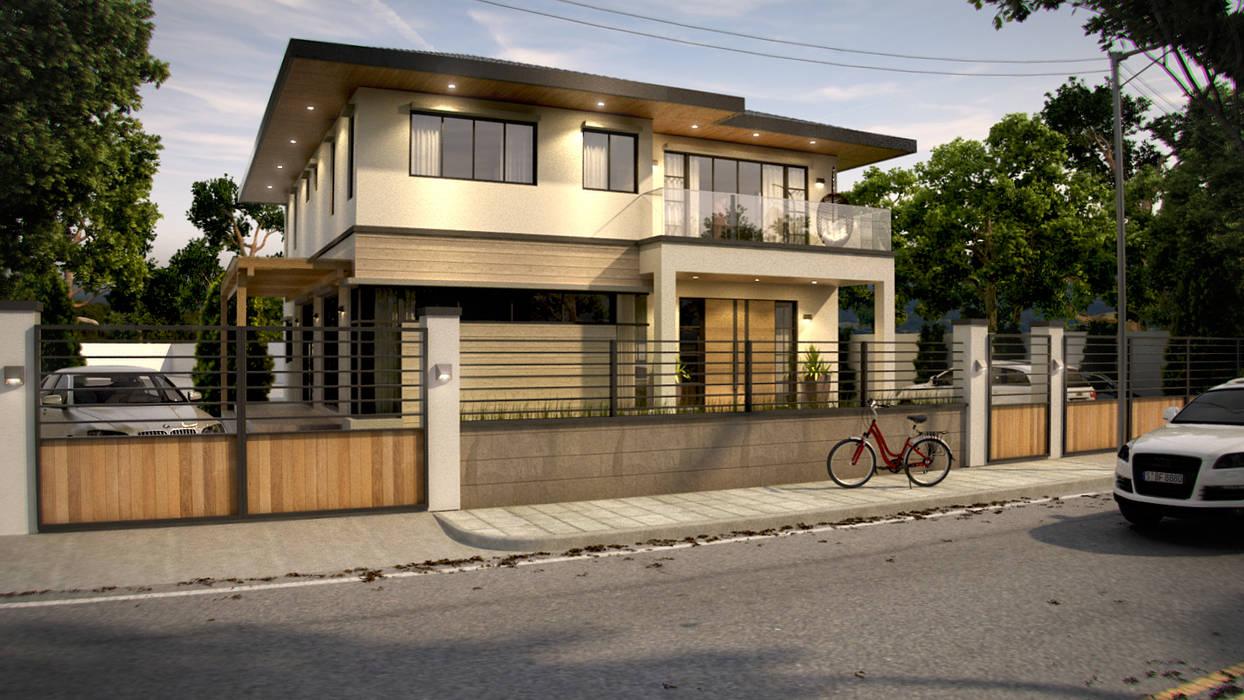 Archvisuals Design + Contracts Заміський будинок Залізобетон Білий