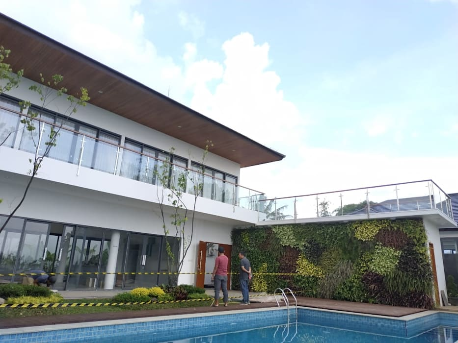 Tampak Area Private Havia Architecture Studio Kolam Renang Tropis