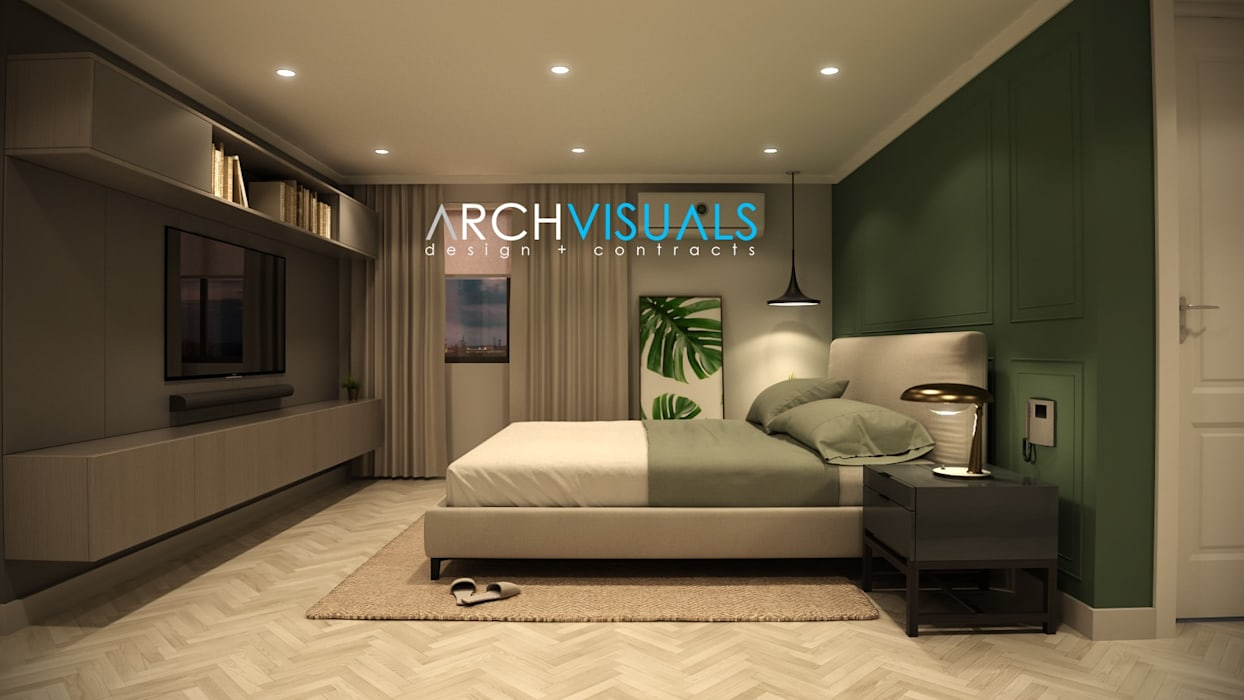 B Architectural Interiors Classic style bedroom by Archvisuals Design + Contracts Classic