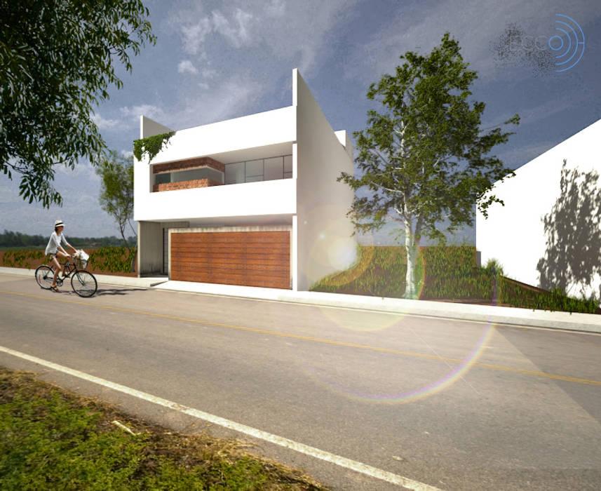 Fachada principal de ECCO Arquitectura/Interiorismo Moderno