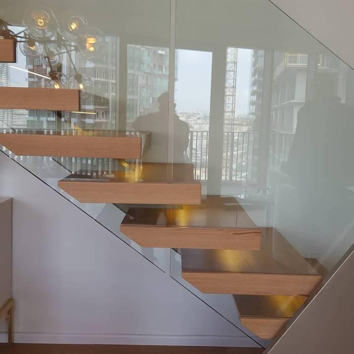 Metal Omurgalı merdivenler MERDİVENCİ İç Dekorasyon Ahşap Ahşap rengi