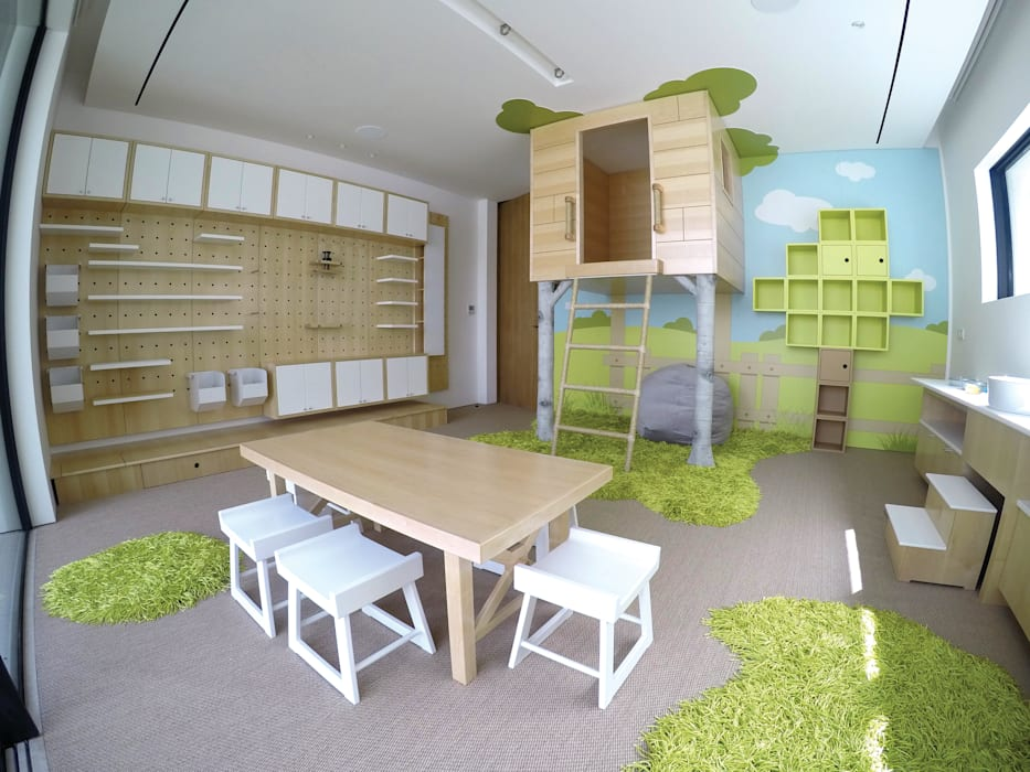 Contemporary Indoor Playroom Modern Living Room by Adaptiv DC Modern Wood Wood effect