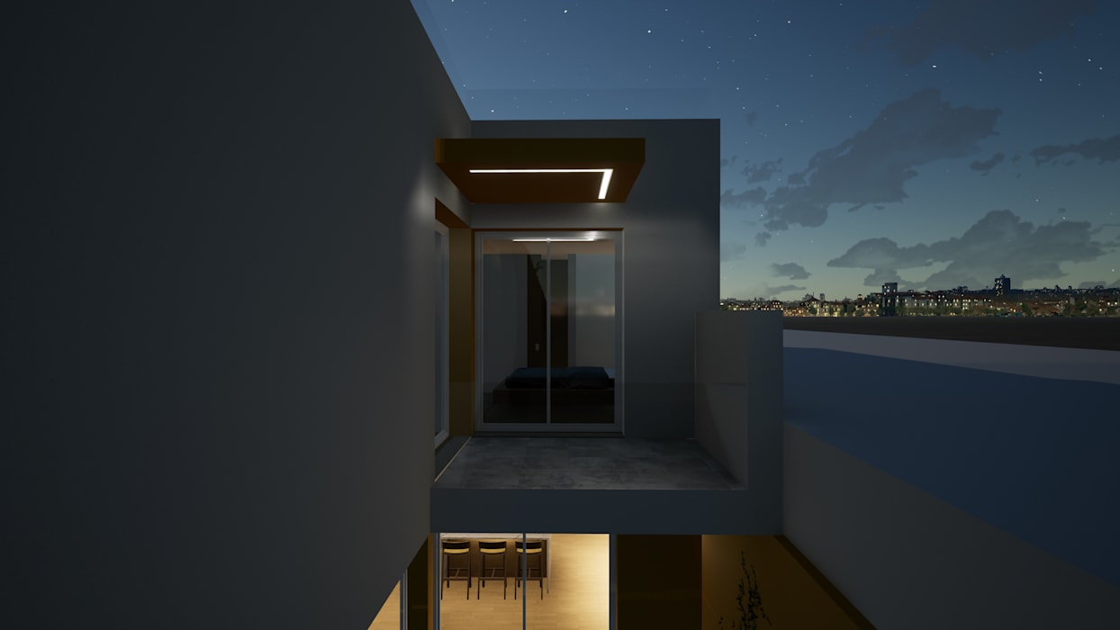 Figueira da foz | Habitação unifamiliar Casas modernas por Escala Absoluta Moderno