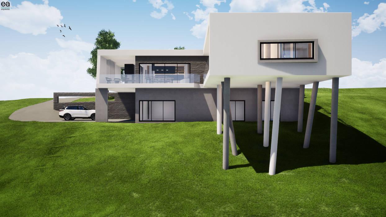 Maiorca | Habitação unifamiliar Casas modernas por Escala Absoluta Moderno