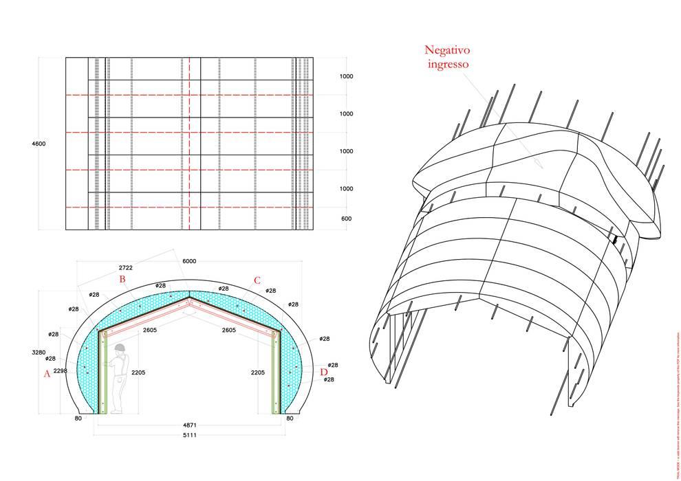 Progettazione della cassaforma Arbloc Spazi commerciali moderni Cemento armato Grigio